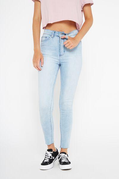 The High-Rise Skinny Jean, SUPER BLUE_CROP