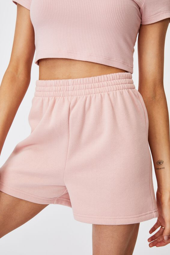 Hype Fleece Short, SILVER PINK