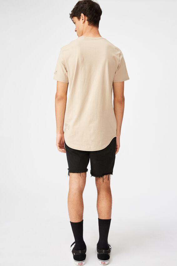 Curved Graphic T Shirt, HUMUS/LOS