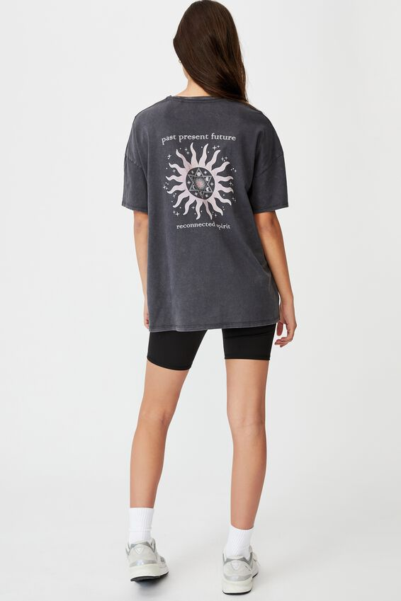 Super Relaxed Graphic Tee, WASHED BLACK/PAST PRESENT FUTURE