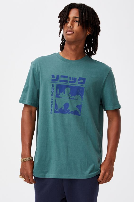 Regular Gaming T Shirt, LCN SONIC PINE TEAL/SONIC