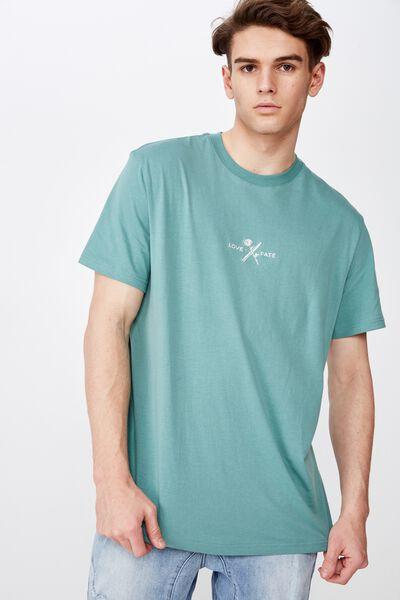 Regular Graphic T Shirt, SAGEBRUSH GREEN/LOVE FATE
