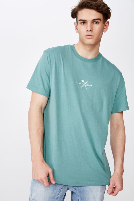 Regular Graphic T Shirt, SAGEBRUSH GREEN/LOVE FATE
