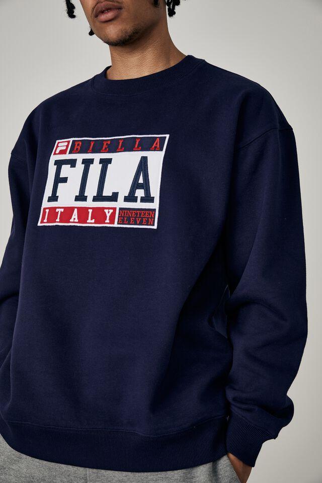 Fila Lcn Oversized Crew, EVENING BLUE/FILA BIELLA ITALY