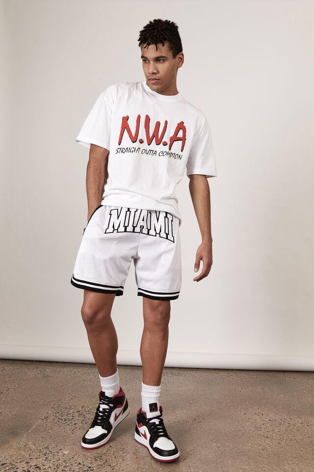 Basketball Short, WHITE/MIAMI