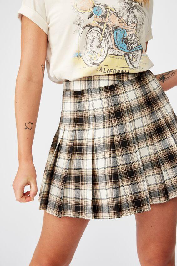 Pleated Skirt, BELLA CHECK