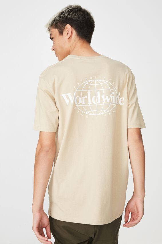 Graphic T Shirt, ALMOND/WIDE WORLD
