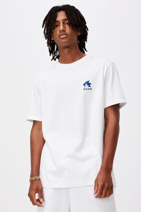 Regular Gaming T Shirt, LCN SONIC WHITE/TOKYO SONIC