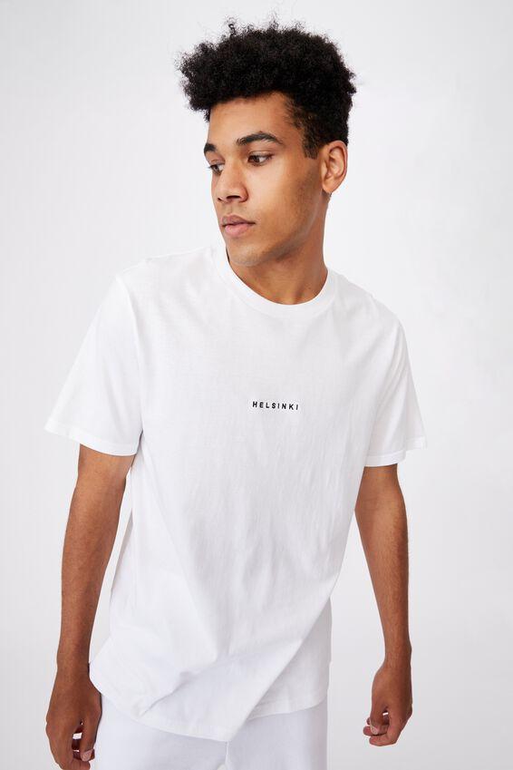 Regular Graphic T Shirt, WHITE/HELSINKI