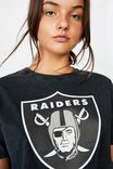 Lcn Raw Edge Graphic T Shirt, WASHED BLACK/RAIDERS