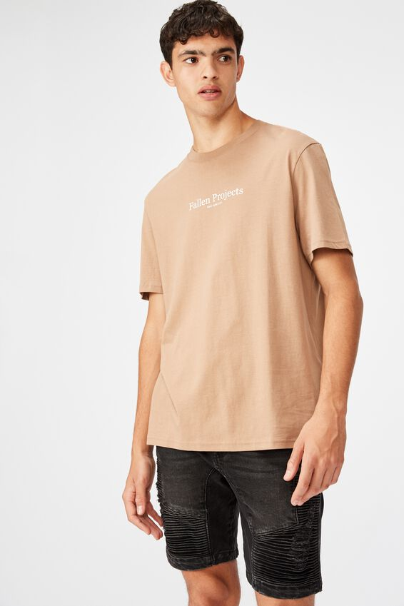 Regular Graphic T Shirt, MOCHA/FALLEN PROJECTS