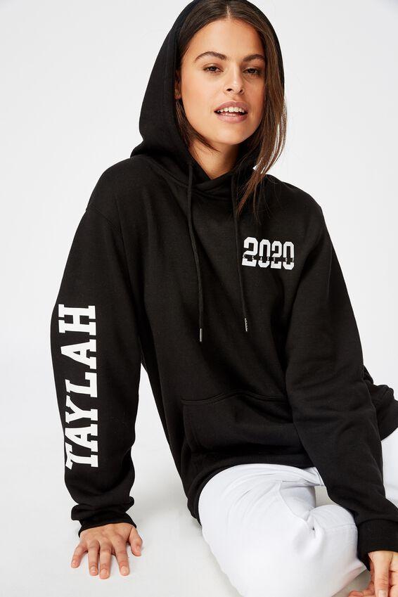 Personalised Basic Hoodie, BLACK