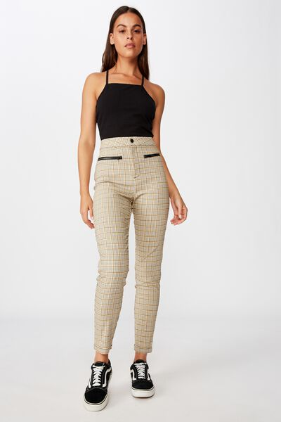 Stretch Check Pant, PARKER YELLOW CHECK