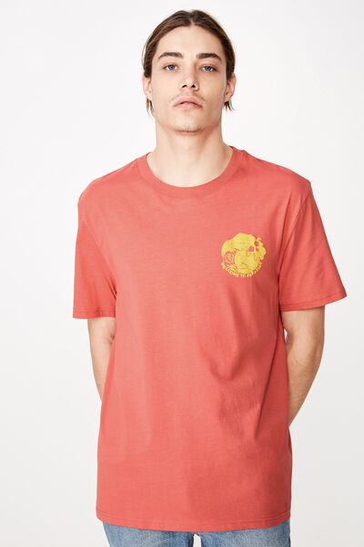 Regular Graphic T Shirt, WASHED BURNT ORANGE/WELCOME