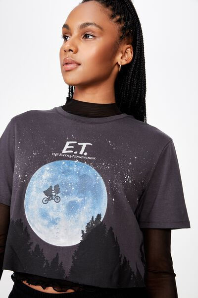 Lcn Raw Edge Graphic T Shirt, ASPHALT/E.T