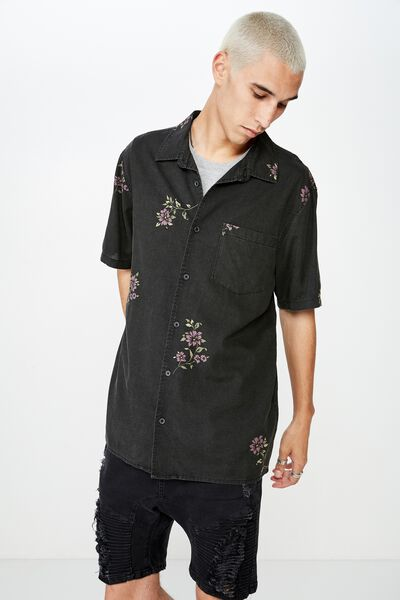 Resort Shirt, NIGHT GARDEN