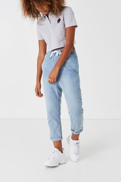 The Low Slung Jean, THRIFT BLUE