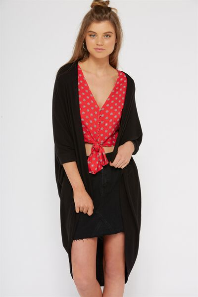 Cocoon Cardigan, BLACK