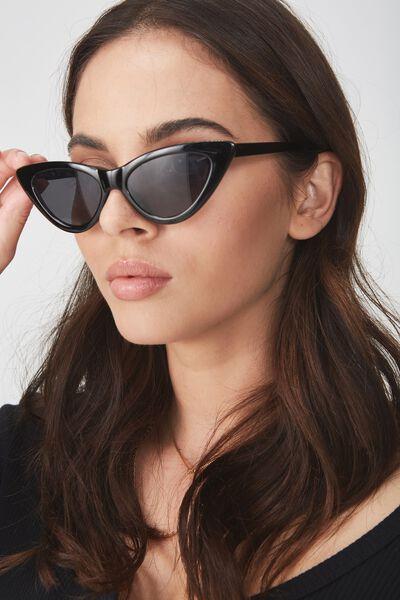 Zarah Cateye Sunglasses, BLACK_SMK