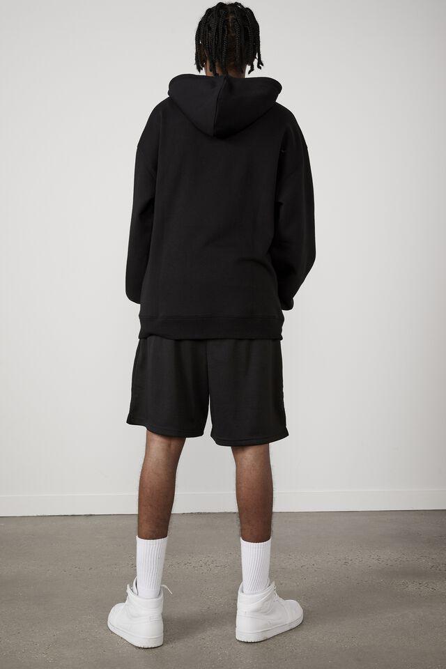 Oversized Graphic Hoodie, BLACK/OHIO