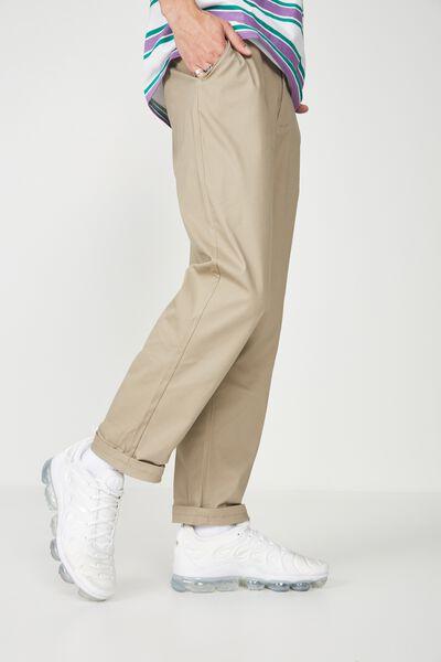 Straight Leg Pants, WHEAT