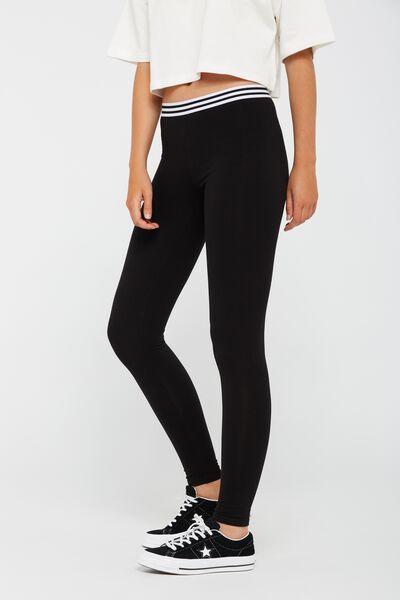 So Soft Elastic Legging, BLACK