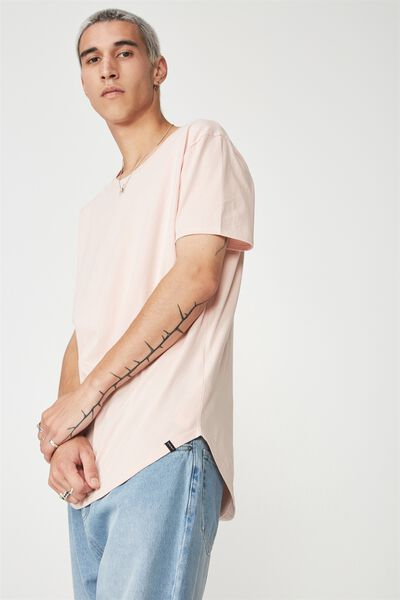 Curved T Shirt, DUSTY PINK