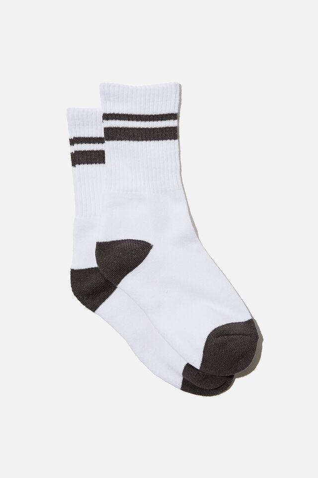 Retro Sport Sock, WHITE TORNADO STRIPE