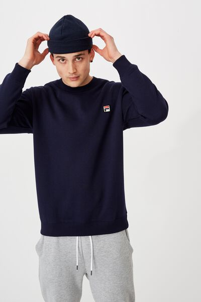 Fila Lcn Oversized Crew, NAVY /FILA ICON