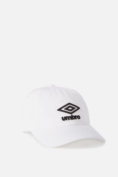 Umbro Cap, 005B-WHITE_BLACK