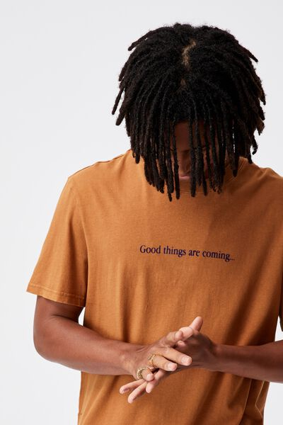 Regular Graphic T Shirt, WASHED TOBACCO/GOOD THINGS