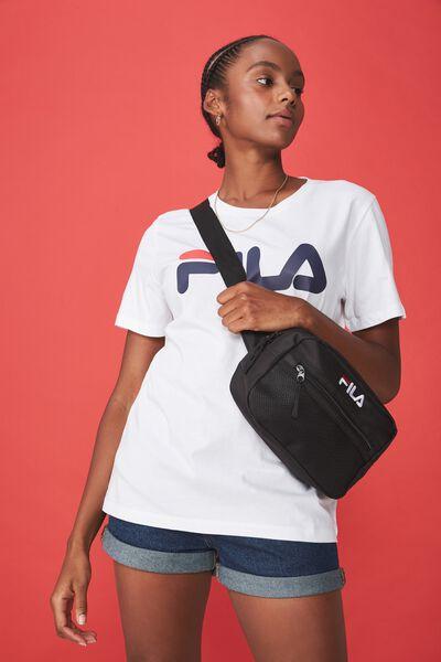Fila Lcn Square Mesh Bag, BLACK