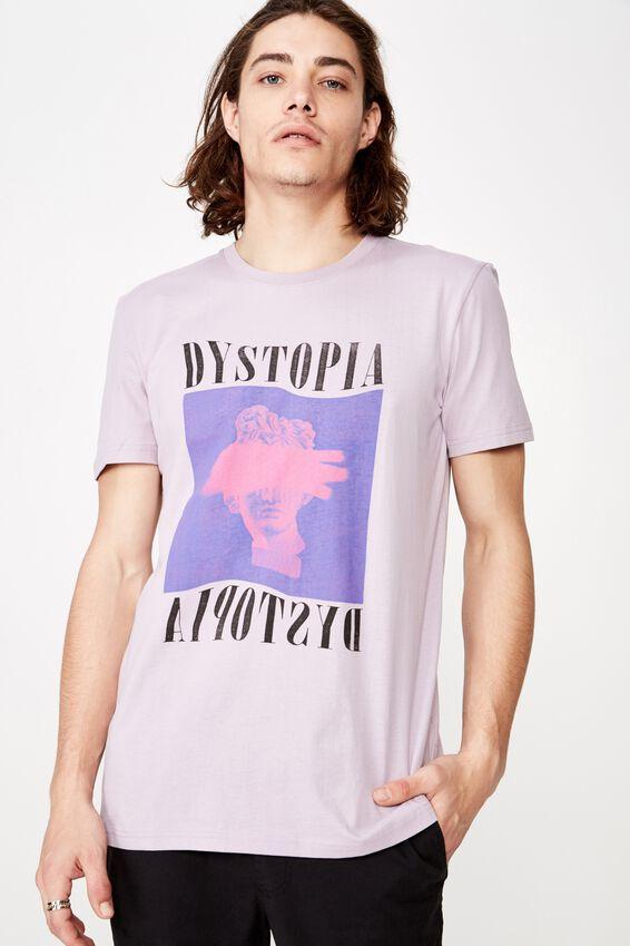 Slim Graphic T Shirt, LAVENDER/BLEACHED