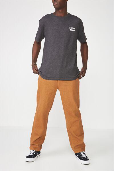 Straight Leg Denim Jean, TAN