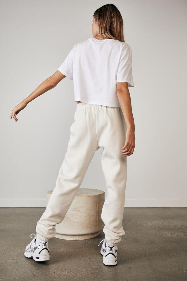 Short Sleeve Crop Graphic T Shirt, WHITE/APRES SPORT