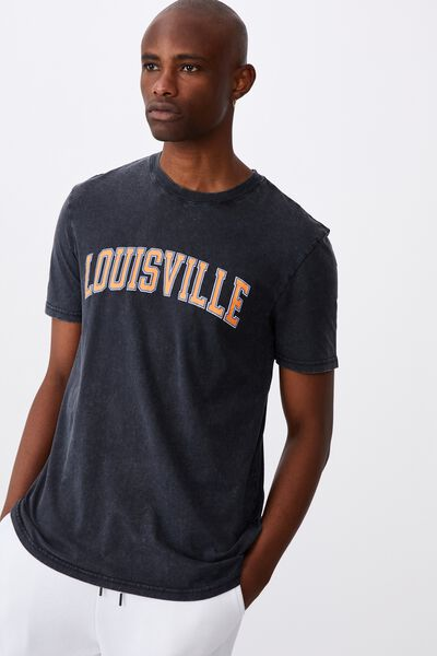 Regular Graphic T Shirt, WASHED BLACK/LOUISVILLE