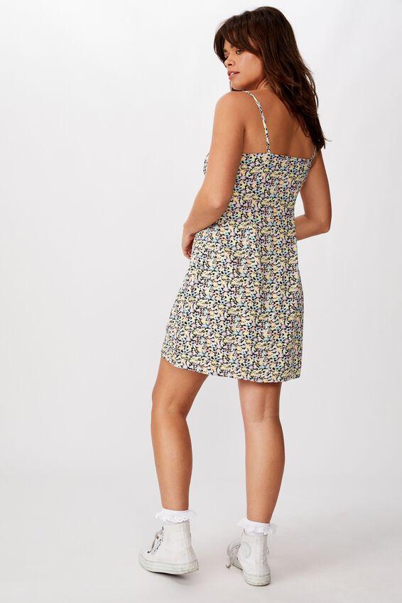 Tie Front Mini Dress, MALIA MIXED FLORAL