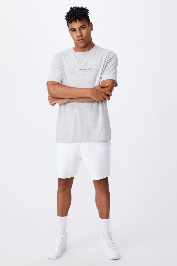 Regular Graphic T Shirt, GREY MARLE/YACHT CLUB