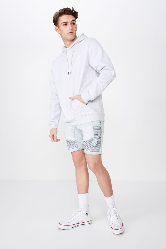 Fila Embroidered Hoodie, SILVER MARLE