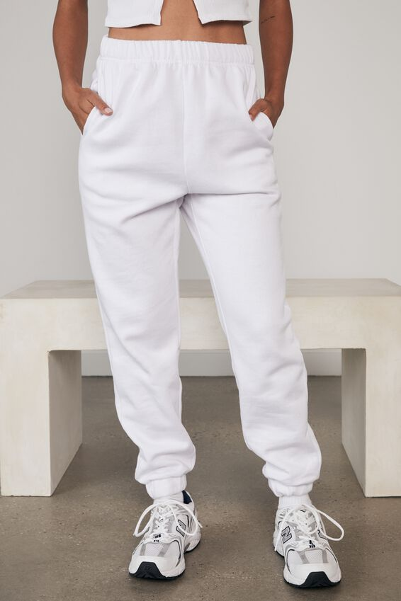 Super High Rise Trackpant, WHITE