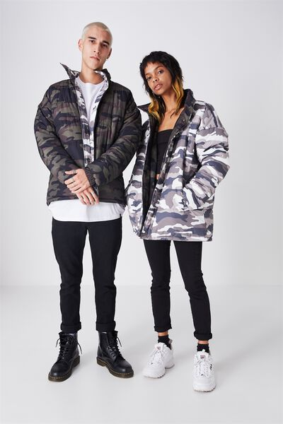 Reversible Arbour Puffer Jacket, REVERSIBLE CAMO