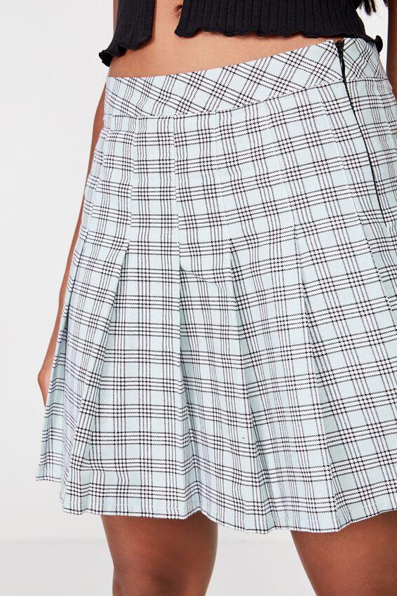 Pleated Skirt, MARA CHECK ETHER