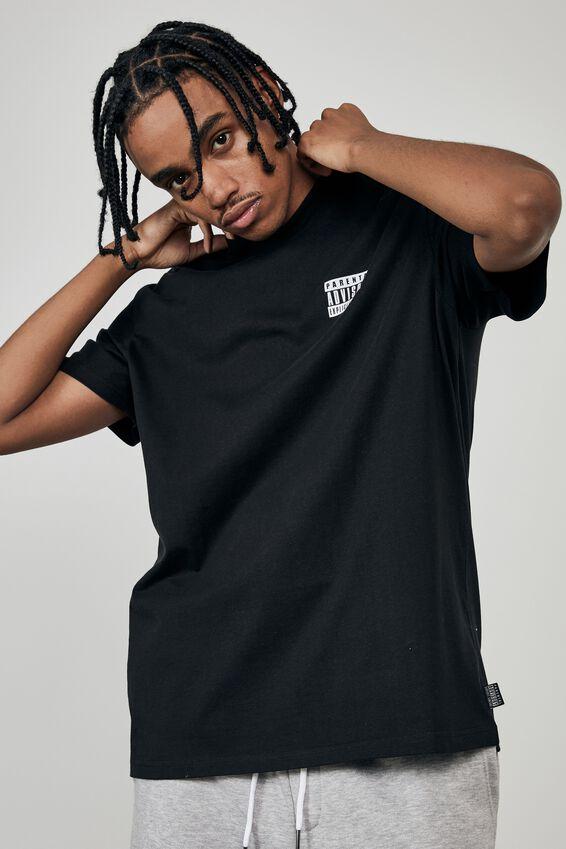 Regular Pop Culture T Shirt, LCN PAR BLACK/PARENTAL ADVISORY