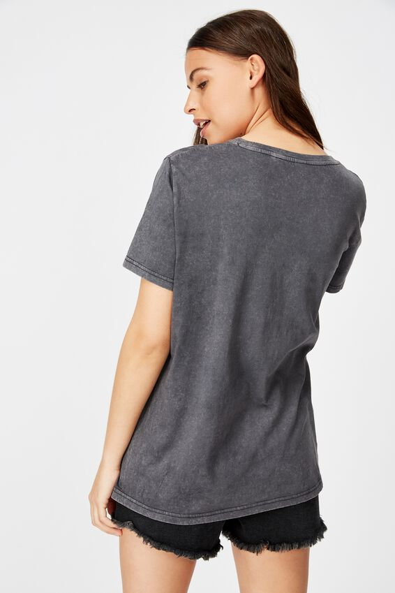 Relaxed Graphic T Shirt, RECKLESS BEHAVIOUR/WASHED BLACK