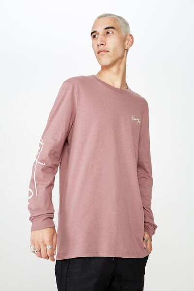 Slim Long Sleeve Graphic T Shirt, GRAPE/NEW YORK