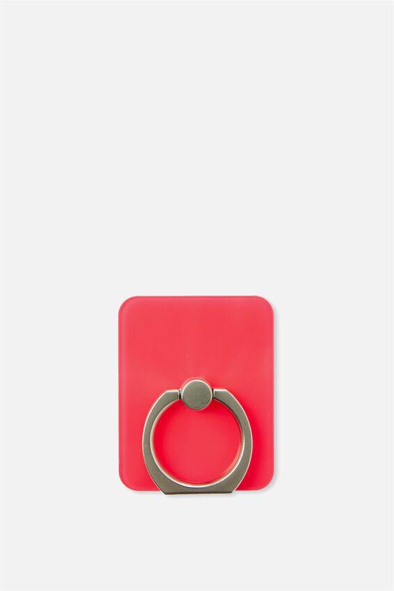 Ring Grip, TRANSPARENT NEON PINK