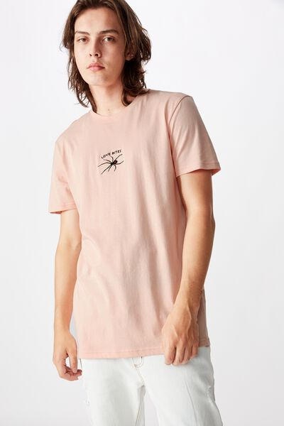 Slim Graphic T Shirt, STRAWBERRY CREAM/LOVE BITES