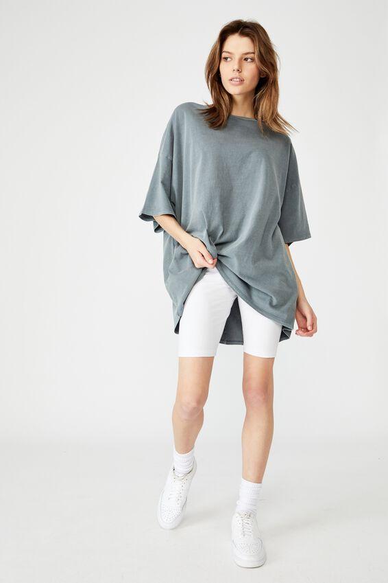 T Shirt Dress, WASHED GREY