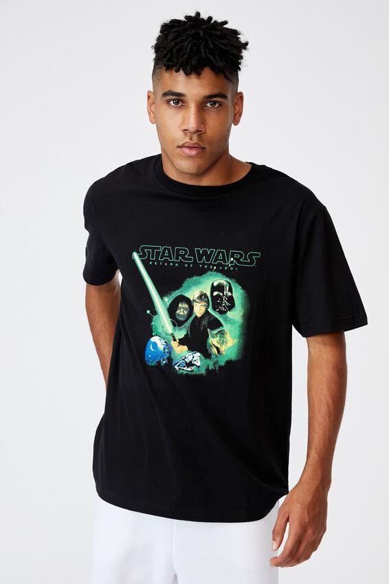 Regular Tv Movie T Shirt, LCN LUC BLACK/STAR WARS EP VI