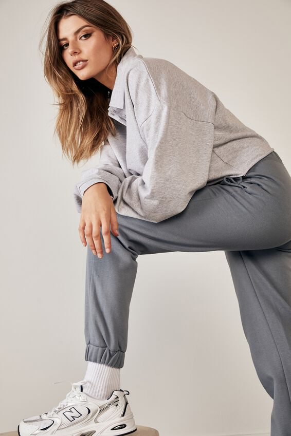 Super High Rise Trackpant, PETROL BLUE